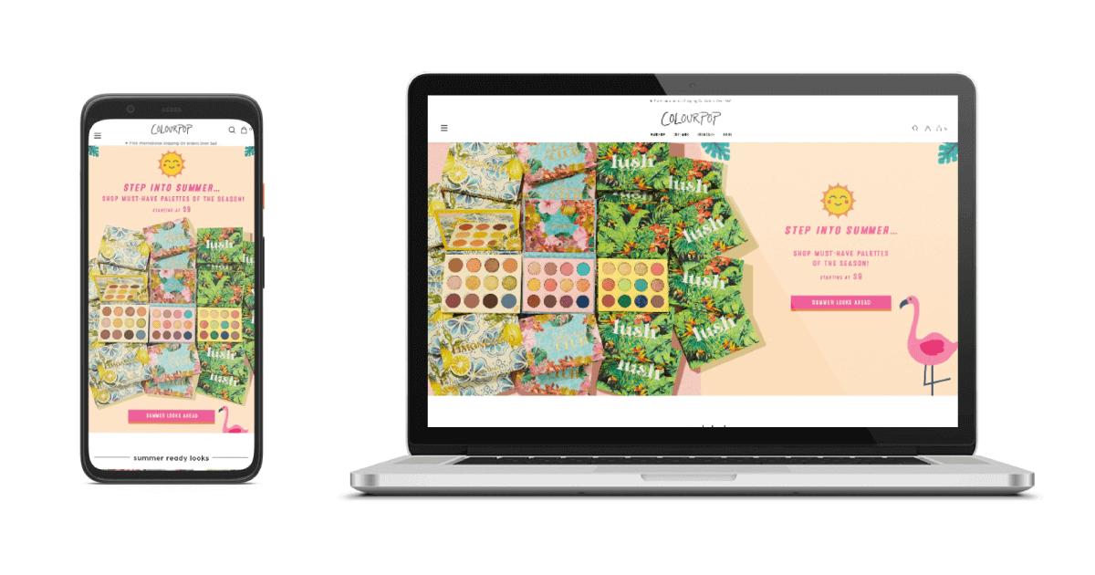 Sklep colourpop Shopify
